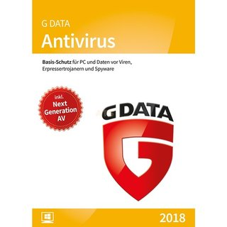 G Data Software Antivirus 3 PCs Vollversion ESD 1 Jahr für aktuelle Version 2018