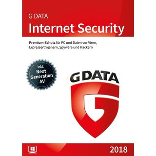 G Data Software Internet Security 1 PC Vollversion ESD 1 Jahr für aktuelle Version 2018