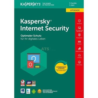 Kaspersky Internet Security 5 Geräte Update GreenIT 1 Jahr für aktuelle Version 2018