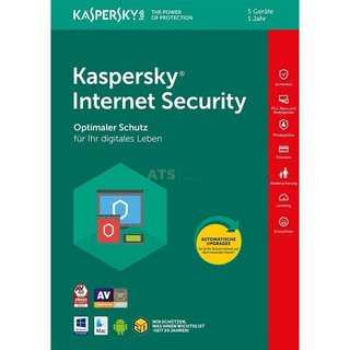 Kaspersky Internet Security 5 Geräte Vollversion GreenIT 1 Jahr für aktuelle Version 2018