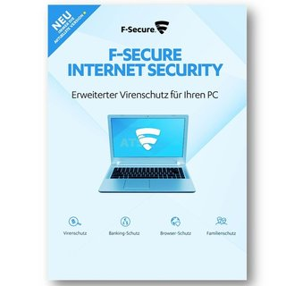 F-Secure Internet Security 1 PC Vollversion GreenIT 1 Jahr für aktuelle Version 2017