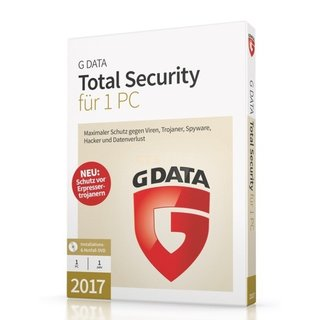 G Data Software Total Security 2017 1 PC Vollversion MiniBox 1 Jahr inkl. Update 2018*