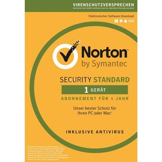 Symantec Norton Security Standard 3.0 1 Gerät Vollversion ESD 1 Jahr ( Download )