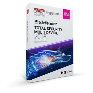 Bitdefender Total Security Multi Device 5 Geräte Vollversion ESD 1 Jahr für Version 2018