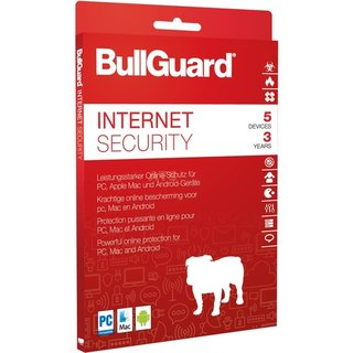 BullGuard Internet Security 2018 5 Geräte Vollversion ESD 3 Jahre ( Download )